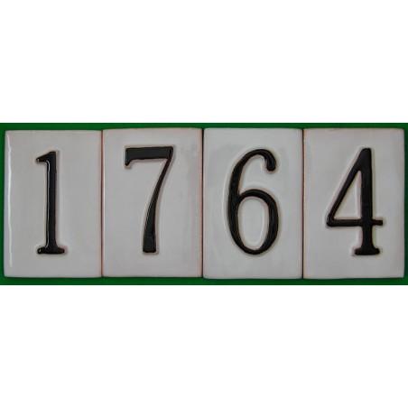 Números relieve 11 cm.