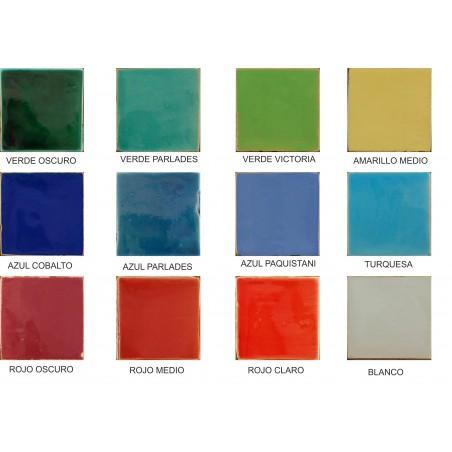 Azulejos Rusticos De 10 X 10 Esmaltados En Colores - Azulejos-rusticos