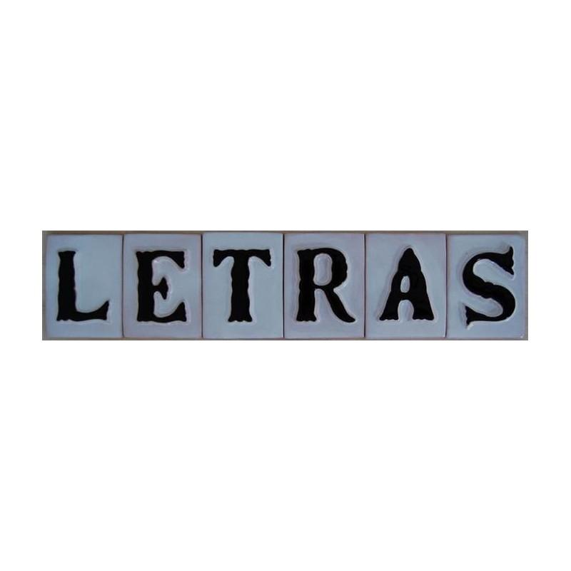 letras 11 cm.